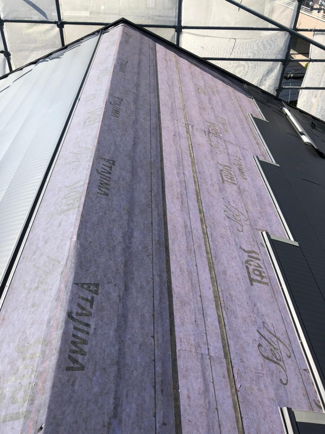 仙台市太白区 カバー工法でスレート屋根から板金屋根に変身しました。