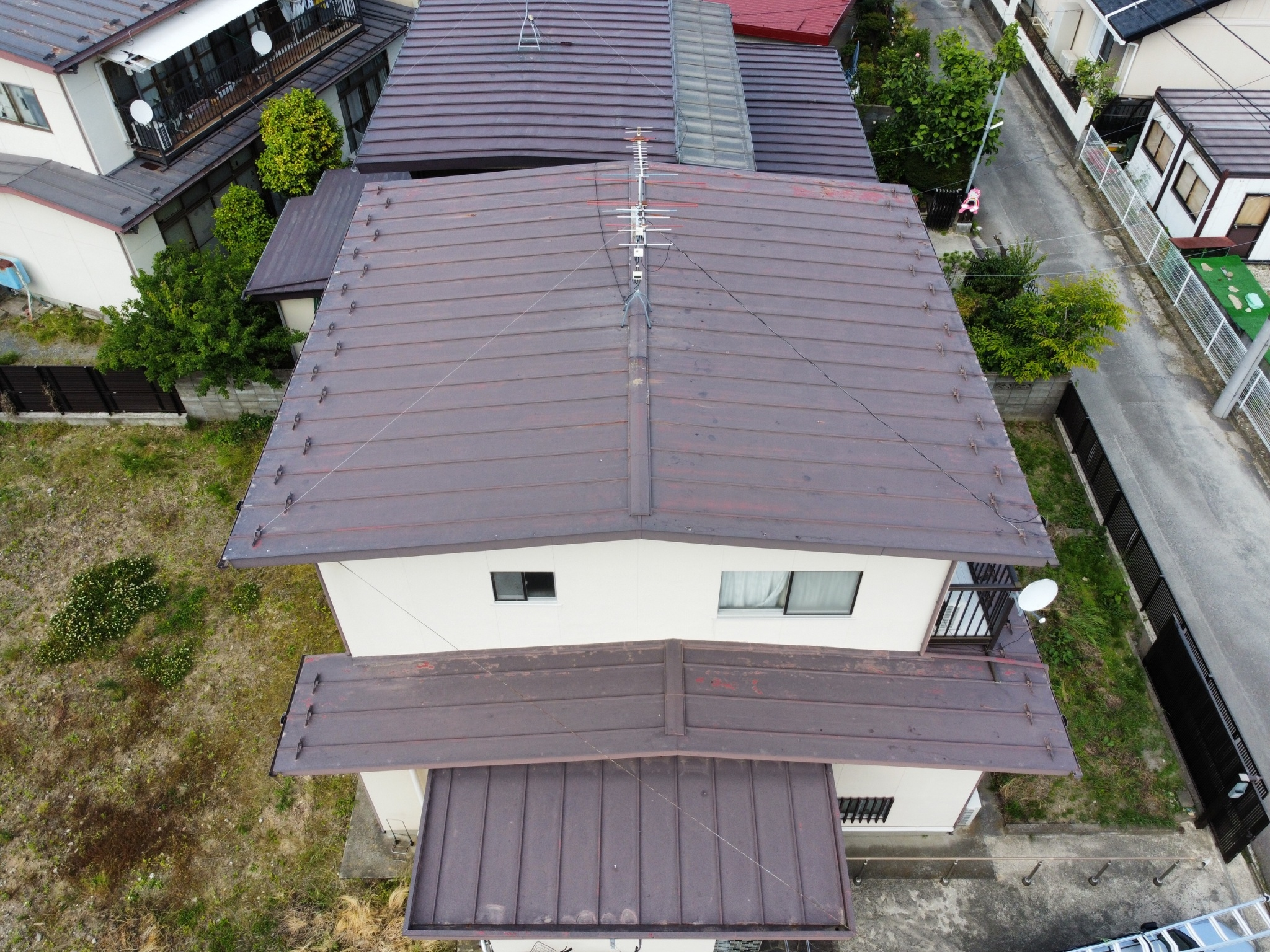 仙台市宮城野区で棟板金の落下 調査に伺いました。