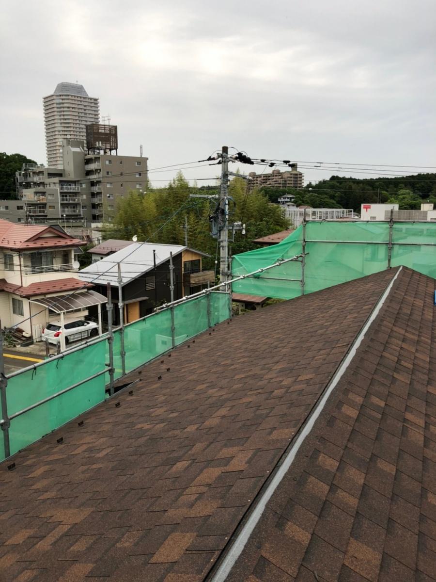 名取市でシングル材に葺き替え工事完了しました。(瓦からシングル屋根に葺き替え④)