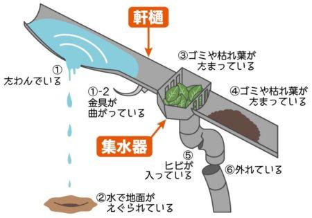 雨樋の解説イラスト