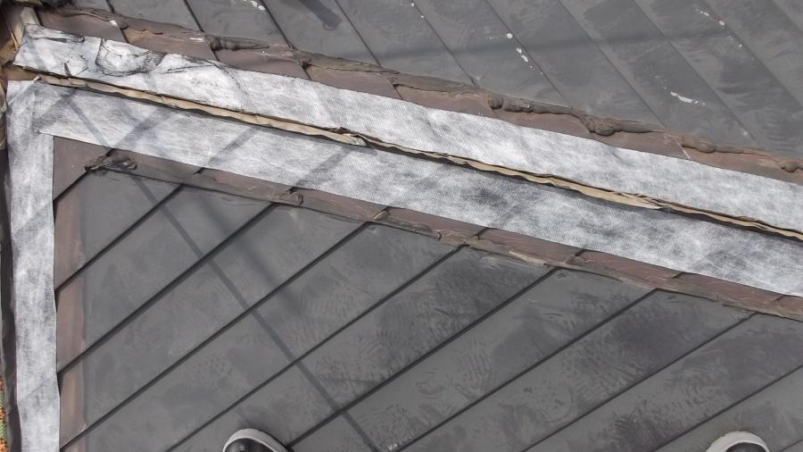 防水処理した屋根の写真