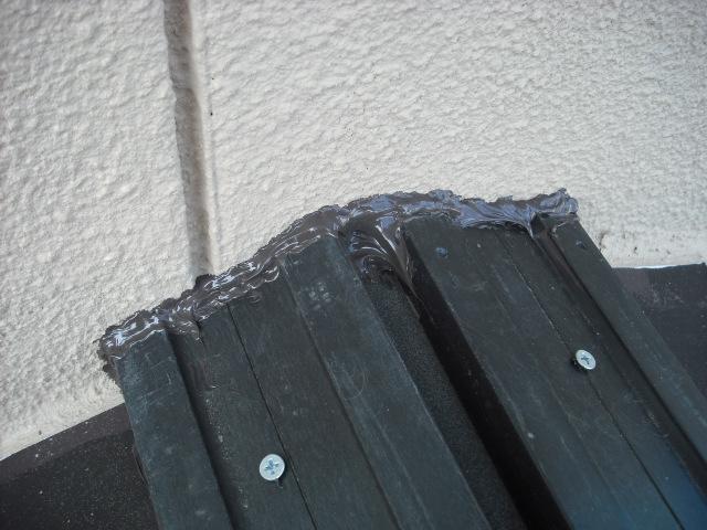 屋根の壁際の写真