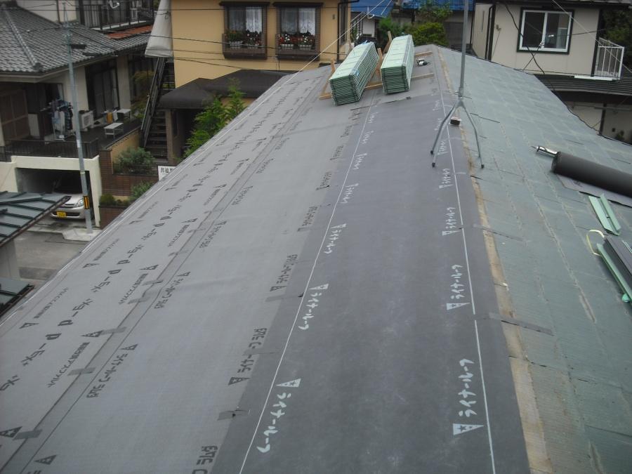 ルーフィング 改修屋根