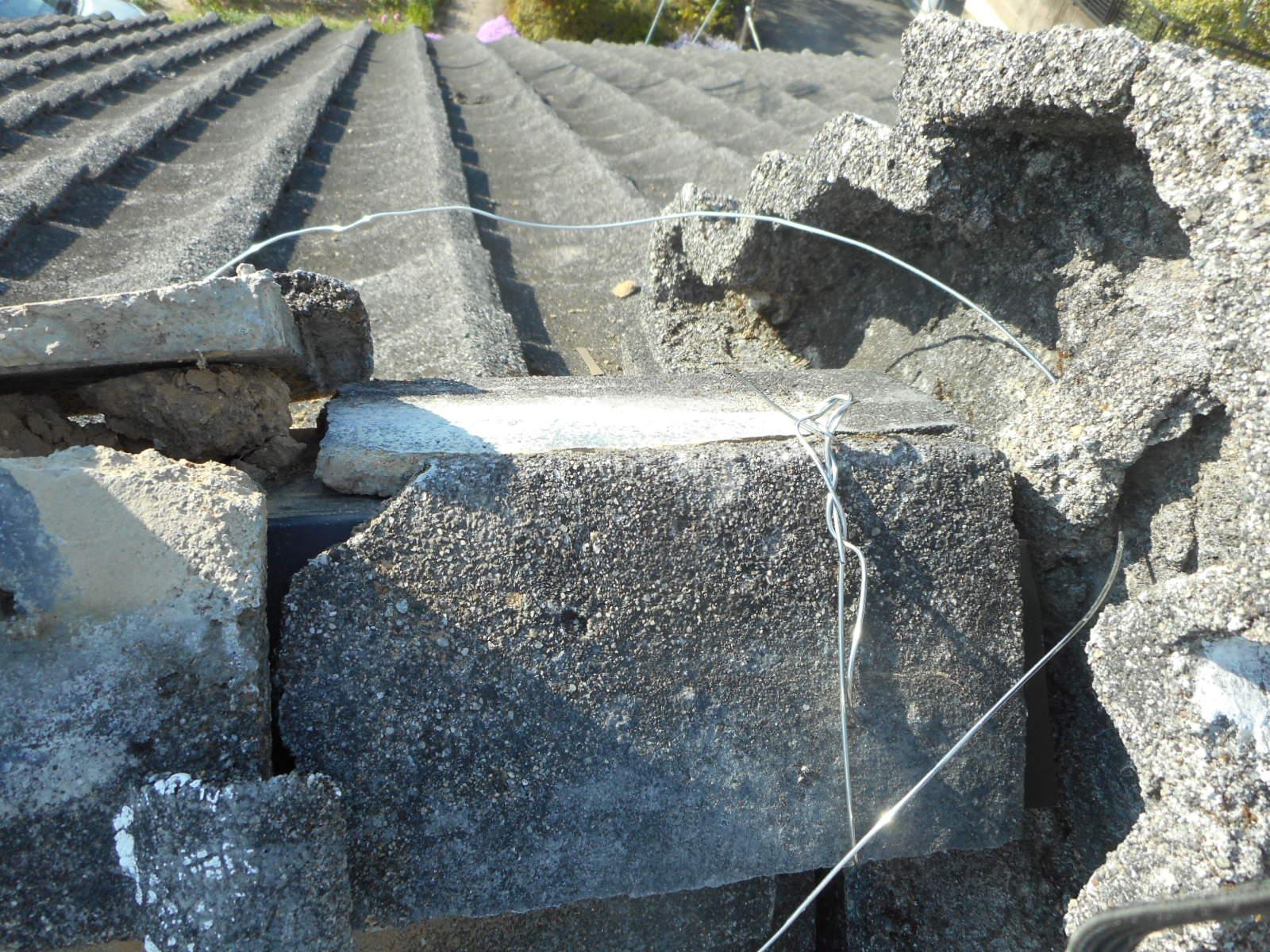 セメント瓦の写真