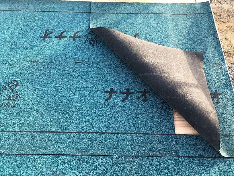 防水紙のジョイント写真