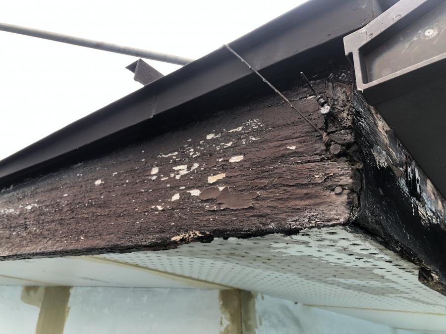 岩沼市で破風板金のご相談 破風材の現状を調査してきました
