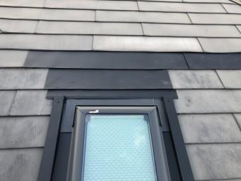 補修した屋根材