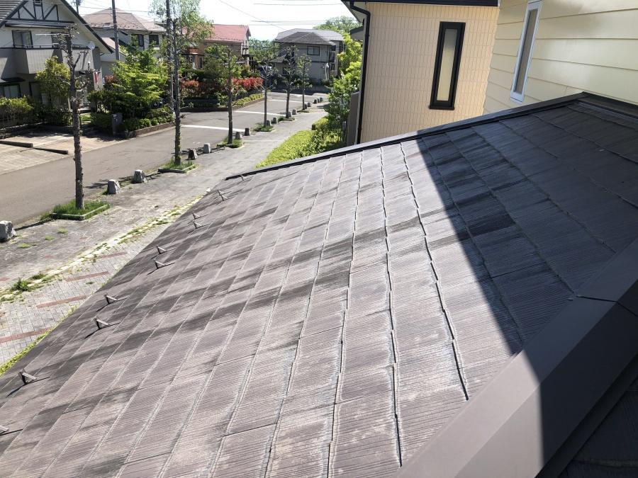 古いカラーベスト屋根