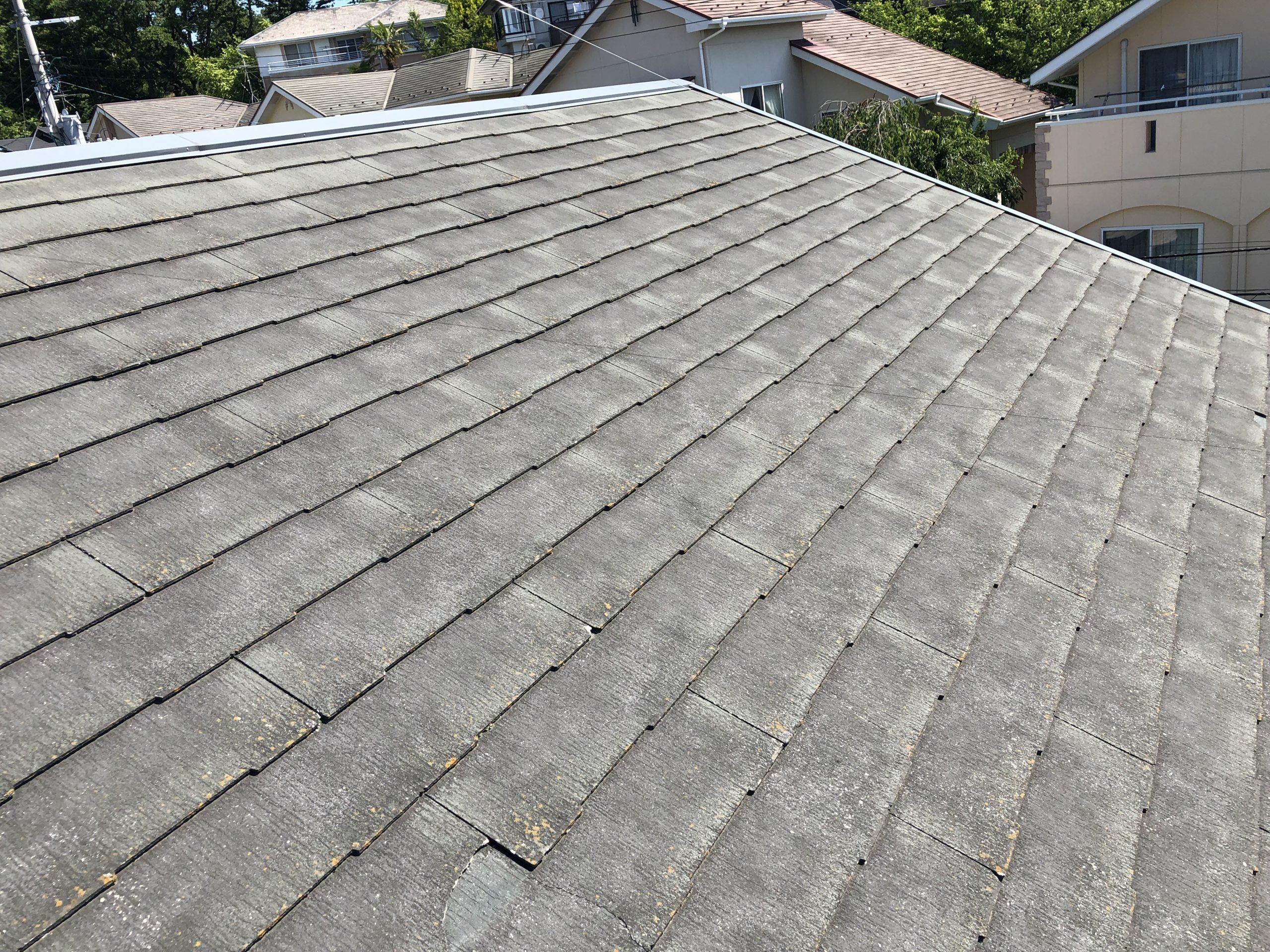 岩沼市でスレート屋根調査 ドローン併用で屋根の状態を見ていきます