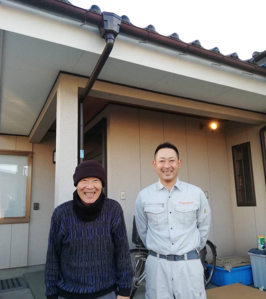 柴田町で屋根葺き替え工事を行ったH様の声
