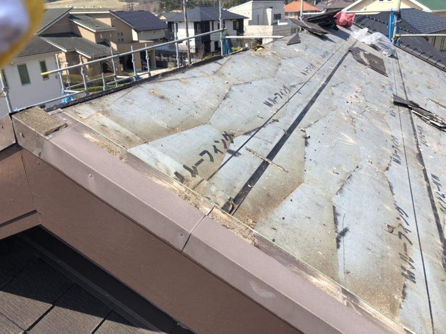 撤去したスレート屋根